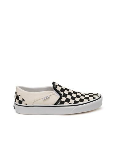 Vans Vans Kadın Ayakkabı Asher Damalı Sneaker Beyaz